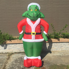 Inflatable Grinch 7 Feet Christmas Decoration Gemmy Christmas Dog Costume Santa For Outdoor Decoration Airblown Grinch Blow Up(China)