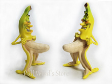 Banana Superman Funny Resin Toys Wretched Version evil banana man model Decoration Cool stuffs