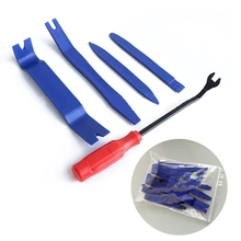 Mayitr 5 PCS Plastic Car Auto Door Interior Trim Removal Panel Clip Pry Open Bar Tool Kit High Quality Hand Tools Set