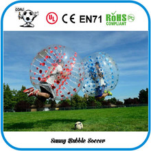 Free Shipping 6pcs (3pcs Red+3pcs Blue+1pc Blower)1.5M PVC Good Quality Bubble Soccer, Body Zorb Ball, Bubble Ball Suits.