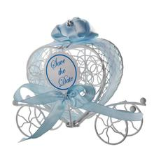 DIVV 1pc New Candy Boxes Romantic Carriage Sweets Chocolate Box Wedding Party Favors levert dropship 2jun26(China)