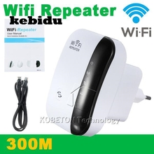 kebidu WiFi Repeater 802.11N/B/G Network Router Range 300Mbps Signal Antenna Booster Amplifier Expander Wireless LAN Adapter(China)