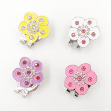 golf hat clip golf clip marker,flower pictures Crystal stick drill(China)