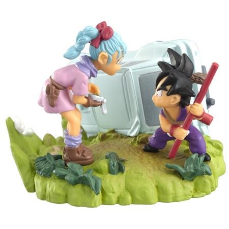 Japan Anime DRAGONBALL Dragon Ball Z/Kai Original BANDAI Gashapon HG Imagination Toys Figure 10 Goku Bulma<br>