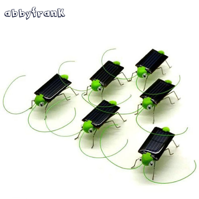 Abbyfrank Green Brinquedo Solar Toy Solar Powered Toy Grasshopper Insect Cricket Bug Gadgets For Kids Children Juguetes Solares(China (Mainland))