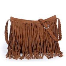 sac a main michael New 2015 Women's Hot sale Suede Fringe Handbags women's fashion Tassel Shoulder Bag messenger bags Handbags