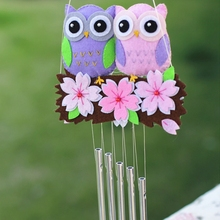 Handmade Felt Craft Pack Cute Owl Sakura Campanula Door Trim Ornaments Bedroom Decor DIY Fabric Material Package(China)
