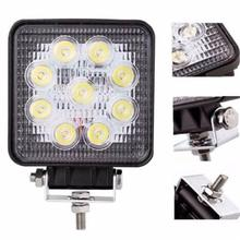 DIC 1PC 4 Inch 27W Square LED Work Light Spot/Flood DRL Lamp 4x4 Offroad Fog Lights Driving Lamp For SUV ATV Boat Car 12V 24V