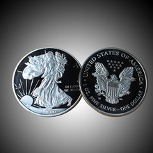 Replica American Eagle Silver Non Currency Coins Metal Crafts Decor(China)