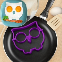 New Cute Kitchen Cooking Tool Silicone Cartoon Egg Fried Shaped Mould Shaper Ring