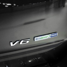 The car sticker S personality logo V6 modified car tail standard metal body paste For Ford cutting-edge World Explorer