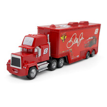 Mack Uncle No.8 Dale Earnhard Jr Racer's Truck Metal Diecast Car Pixar Cars Movie Truck Container 1:43 Alloy Model kid's toy(China)