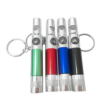 Super 3-In-1 Keychain Flashlight Compass Whistle Camping Survival Hiking Tool 170621