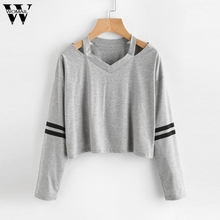 Buy Womail Sweatshirt Hoodies Long Sleeve Solid Sudadera Mujer Jumper Women Clothing Sweatshirt Tumblr Pullover Crop Top Oct9 for $7.94 in AliExpress store