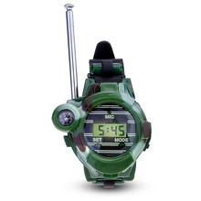 1pair 7 In 1 Walkie Talkie Watch Camouflage Style Children Toy Kids Electric Strong Clear Range Interphone Kids Interactive Toys(China)