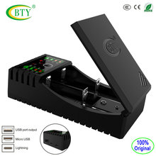 BTY - V 202 + Li-ion 3.7V Li-fe 3.2V Ni-MH Ni-CD battery charger Smart fast 6F22 9V AA AAA 18650 16340 14500 Battery Charger(China)