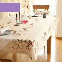 Table Cloth Mesa Linen Tablecloth Dining Table Lace Manteles Embroidery European Decoration Doilies Luxury Tablecloths DD0484(China)