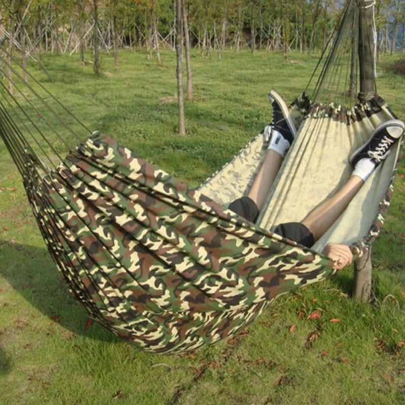 Наружные 280*145 см 2 человека игровой комплекс сада гамака внутренняя кровать колебания, расслабляющая мешок колебания камуфляжный гамак холста 250 кг Макса