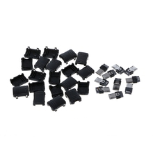 10 Sets Micro USB T Port Male 5 Pin Plug Socket Connector Plastic Covers DIY