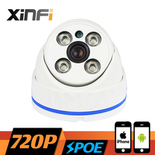 XINFI HD 720P POE camera 1.0 MP night vision Outdoor/Indoor Waterproof network CCTV IP camera P2P ONVIF 2.0 PC&Phone remote view(China)