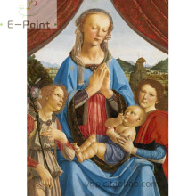 "Da Vinci "" Angel and Baby "" Oil Painting Print on Cotton Canvas Painting Abstract Wall Art YG1772"