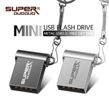 USB Flash Drive Super Mini Pendrive 2 GB 4 GB 8 GB 16 GB 32 GB 64 GB USB Stick logotipo personalizado Pen Drive Real capacidad de anillo de llave USB Flash(China)