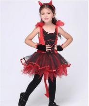 halloween Cat Gril costume for kids girls little red devil costumes sets girls halloween outfits C56135