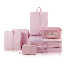 7pcs/set Solid Color Waterproof Clothes/Shoe/Underwear/Electronic product Storage Bags Packing Cube Travel Luggage Organizer Bag(China)