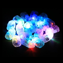 100 pcs/set Mini LED Balloons Light Lamp For Paper Lantern Christmas Party ,Birthday ,Valentine's Day,New Years Day Decoration(China)