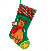 43cm Europe United States decorated Christmas socks gift bags boutique Christmas gifts high - grade decals knit Christmas +Z