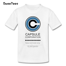 Dr. Brief Capsule Corporation T Shirt Kids 100% Cotton Short Sleeve O Neck Tshirt Children Teeshirt 2017 T-shirt For Boys Girls