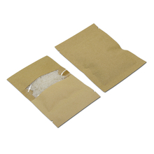 DHL 200Pcs/Lot 16x26cm Food Packaging Brown Party Paper Bag With Window Self Seal Zip Lock Kraft Paper Pack Pouch For Candy Nuts(China)