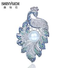 Silver Plated Full Rhinestone Crystal Vintage Peacock Brooch Pin For Women 2016 Luxury Brand Bridal Costume Accessories