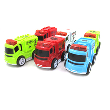 6Pcs/Set Toy Car flash Scale Model truck children miniature truck plastic kids toys 6 colors music car toys for children