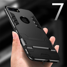 luxury case for iphone 5 5s se 6 6s plus cover hard soft PC + tpu holder full body Protective bag for iphone 7 7 plus phone case(China)