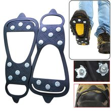 Outdoor Equipment 1 Pair 8 Teeth Crampons Shoes Spikes Claws Winter Snow Skiing Climbing Anti Slip Ice Gripper Chains for Boots
