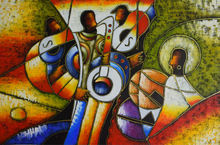 World famous paintings Picasso abstract painting Modern Blowing instruments Hand painted oil painting on canvas Wall art picture
