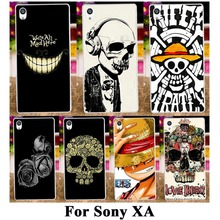 Hard Plastic Soft TPU Silicon Phone Cases For SONY Xperia XA F3111 F3112 F3113 F3115 5'' Covers Skull Heads Phone Shell Housing