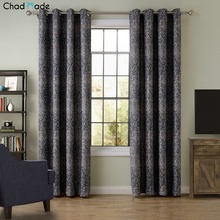 ChadMade New Blackout Curtain Fabric Bedroom Living Room Floor Simple Classic Style Floating Window Curtain Custom Made 8484B