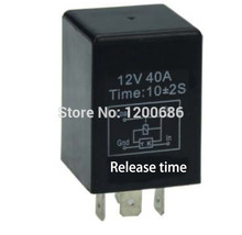 Automotive 12V Time Delay Relay SPDT 10 second delay release off relay 10mini 5 mini delay off delay(China)