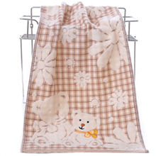 Exquisite design Cartoon Bear Bath Towel Cotton Face Towel Strong Water Absorption Compressed Soft Towels