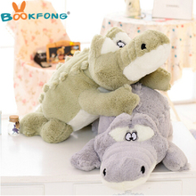 BOOKFONG 1 Piece 60cm Softly Crocodile Plush Toy Stuffed Animal Dolls Baby Toys Children Gift Free Shipping