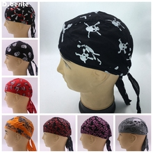 Men Women Diamond Plate Cotton Skull Caps Hat Doo Rag Biker Bandana Head Wrap DAJ9068