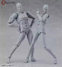 14.5cm figma she/he Moveable PVC Nude Female male Body DIY Art Figure Doll Flesh/ gray Color Version Action Figure collection