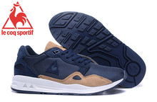 2017 Latest Version Le Coq Sportif Men's Running Shoes Sneakers New Colors Men's Sports Shoes Navy Blue/Brown Color 3 Size 40-45