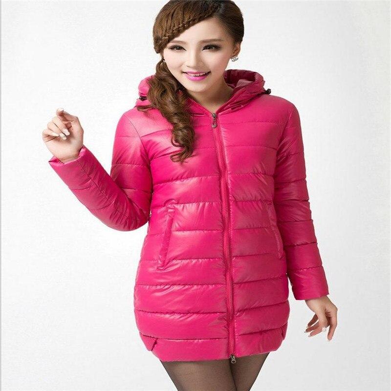 2017New Winter Women Down Cotton Jacket PU Parka Female Hooded Slim Thicken Winter Medium-Long Size L-4XL Cotton Warm ParkaCQ359Îäåæäà è àêñåññóàðû<br><br>