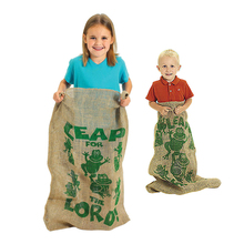 BOHS Outdoor Interactive Children Potato Sacks Jumping Frog Linen Bag Team Game Toy(China)