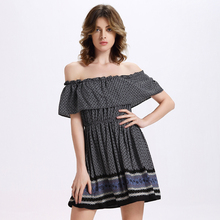 Valentine's Day 2017 Summer Women Dresses Fashion Sexy Lady Party Dress Plus Size Female Slash Neck Club Loose Dresses