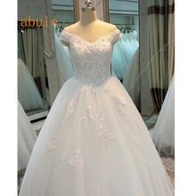 Luxury Princess Wedding Dresses Peach blossom lace Beaded Sweetheart  Vintage Tulle Arabic Bridal Gowns Vestido de Noiva 2018 3e16b57e8b85