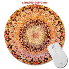 HD Circular Carpet  rubber mouse pad PC mputer Gaming Mousepad Fabric + Rubber Material - accessory and gift 200*200*2mm